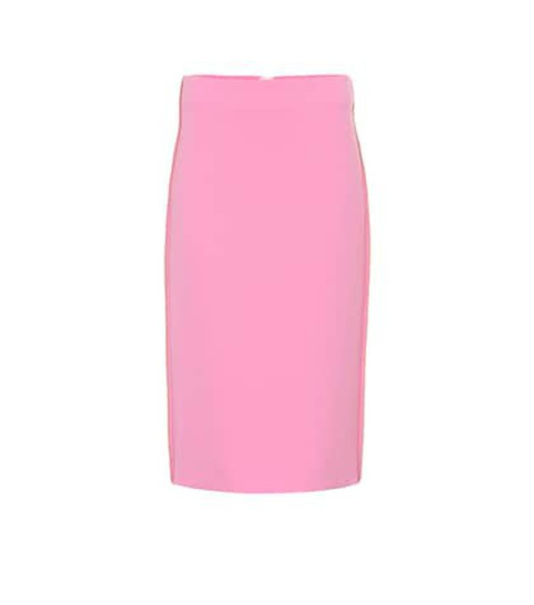 Marni Wool crêpe pencil skirt in pink