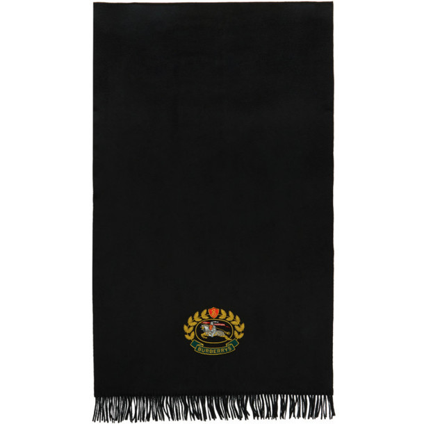 Burberry Black Solid Cashmere Scarf