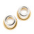 Alexander Wang Double Ring Earrings - Rhodium/Gold