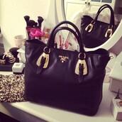 bag,prada,black bag,black,handbag