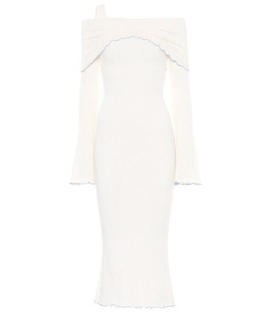 Ellery Dolly off-the-shoulder midi dress in white