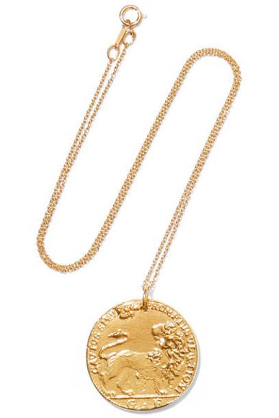 Alighieri - Il Leone Medallion Gold-plated Necklace