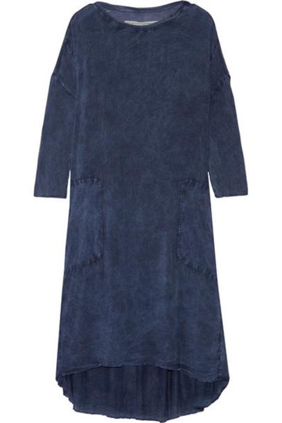Raquel Allegra - Tie-dyed Jersey Dress - Storm blue