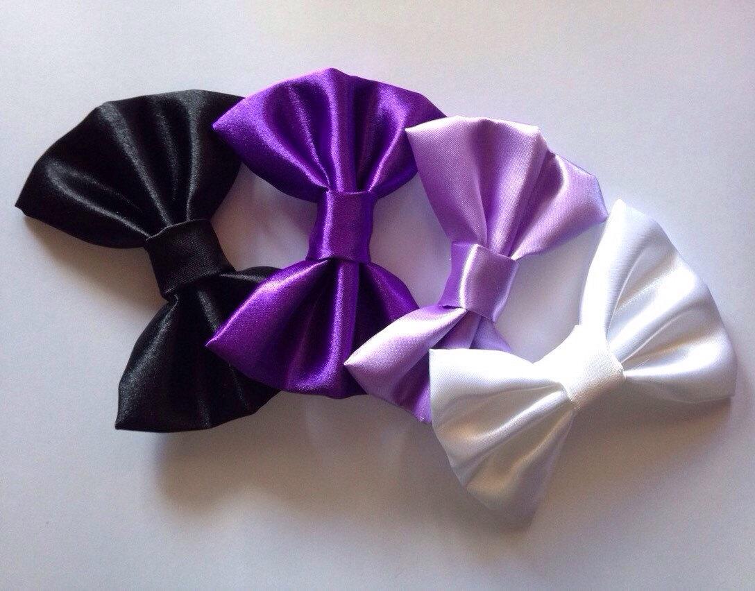 Plain satin hair bow