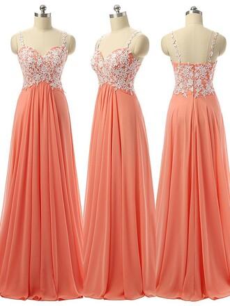 dress formal prom gown beautiful maxi dress coral dressofgirl