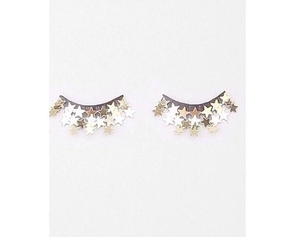 pastel stars make-up sparkles makeup bag eyes make up