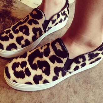 shoes celine slip-on white black beige slip on shoes slippers leopard print