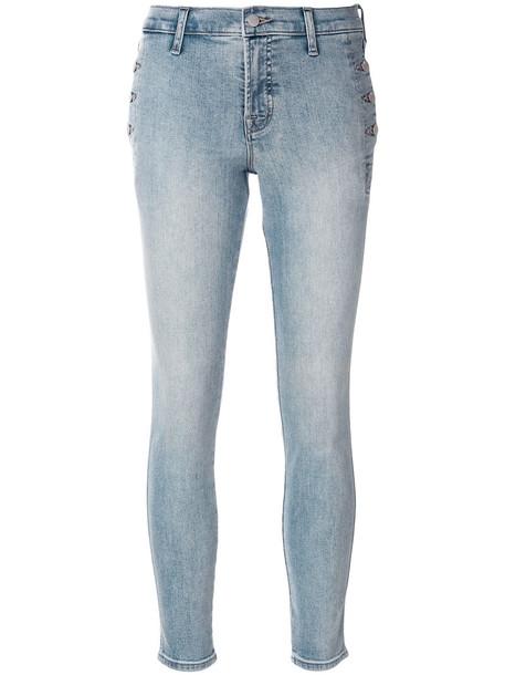 J BRAND women cotton blue pants
