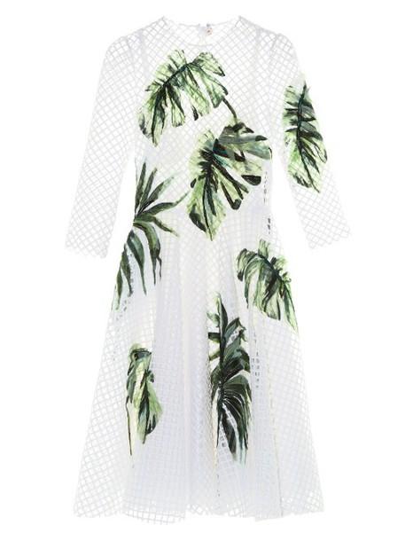 dress tulle dress net white