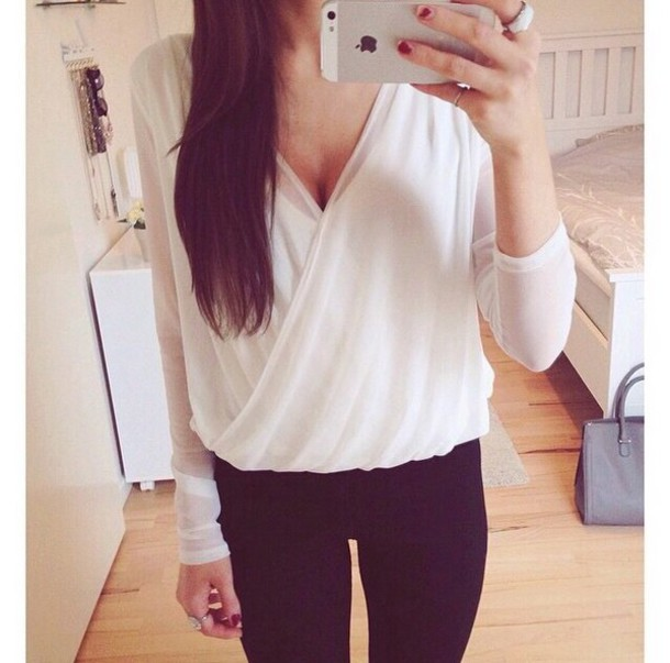 blouse top white top skirt white skirt leggings white blouse winter top winter tops