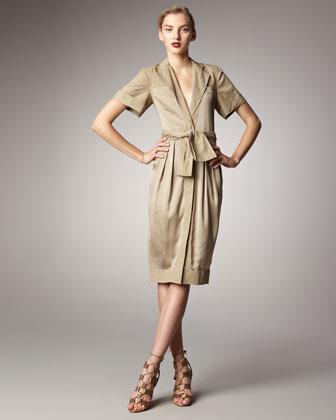 Donna Karan Tie-Waist Shirtdress - Neiman Marcus