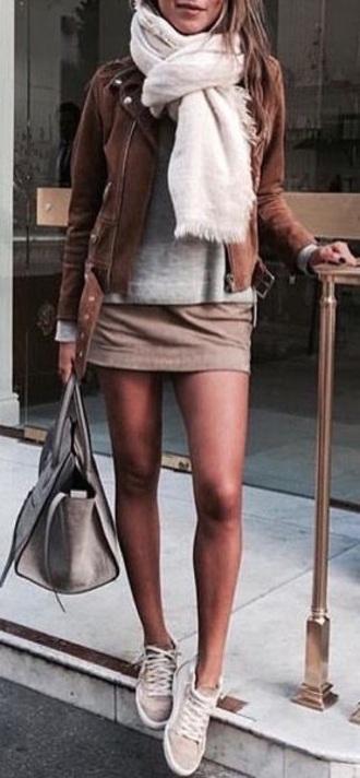skirt pretty summer beige mini skirt