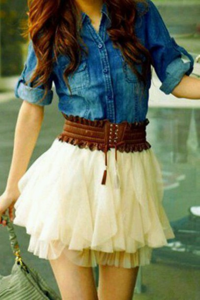 skirt tulle skirt white cute skirt
