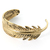 Gold-Plated Feather Cuff - Retro, Indie and Unique Fashion