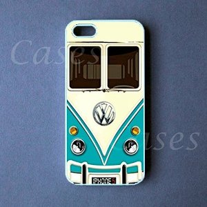 Amazon.com: Iphone 5 Case, Teal VW Minibus Iphone 5 Cover: Cell Phones & Accessories