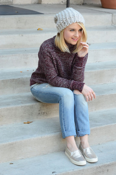 jewels glitter blogger jeans poor little it girl knitwear burgundy vans