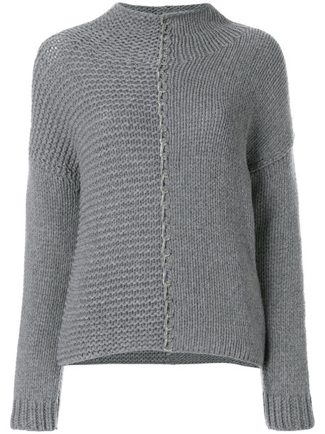 Fabiana Filippi jumper high women high neck grey sweater
