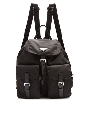classic backpack leather black bag