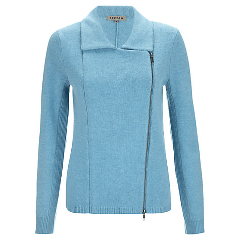 Buy Jigsaw Zip Biker Cardigan online at John Lewis