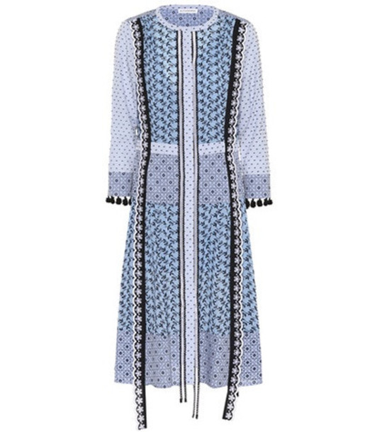 Altuzarra Grenelle cotton midi dress in blue