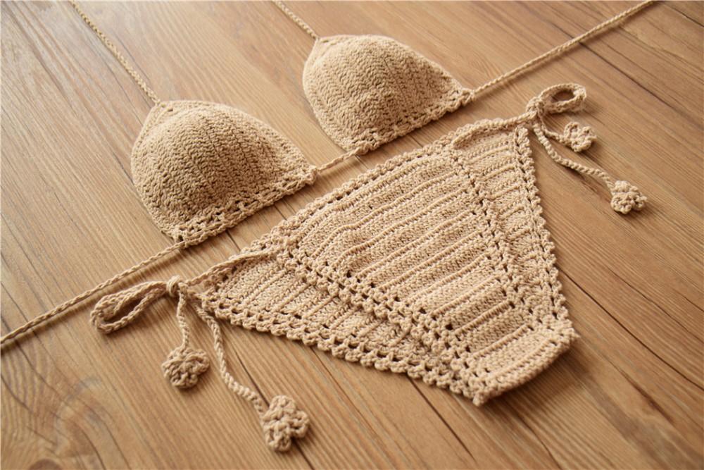 Porn love Handmade crochet bikinis that