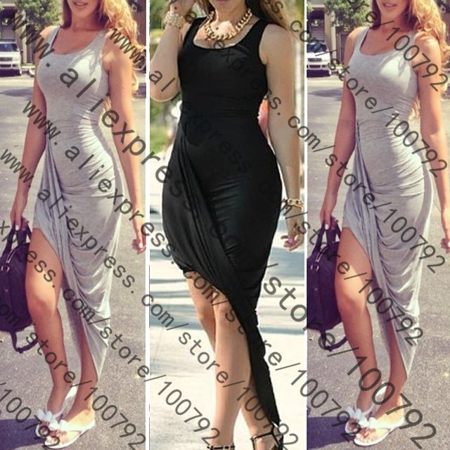 Aliexpress.com : Buy New Sexy Asymmetrical Draped Backless Dress Celebrity Summer Fashion 2014 Low Back Slit Bandage Bodycon Maxi Long Dress from Reliable dress floral suppliers on Pelum Factory Outlet