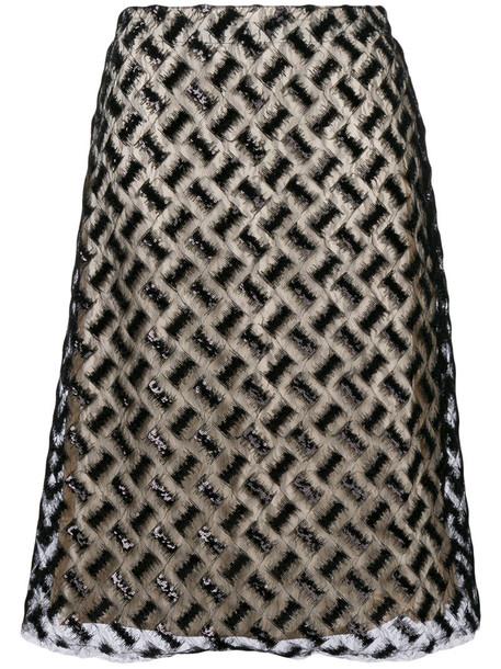 skirt midi skirt embroidered women midi black