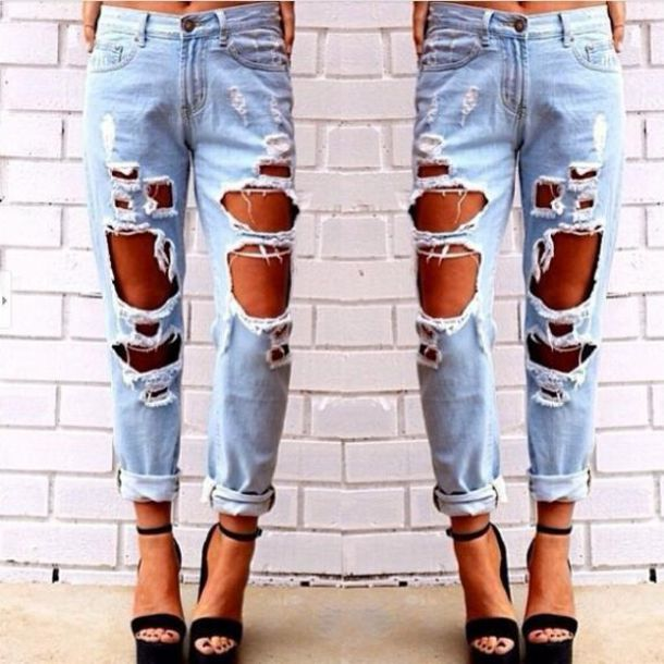 Jeans: cutout jeans, ripped jeans, distressed skinny jeans, skinny ...