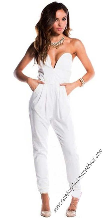 V Bust Strapless Jumpsuit - Jumpsuits & Playsuits - Clothing