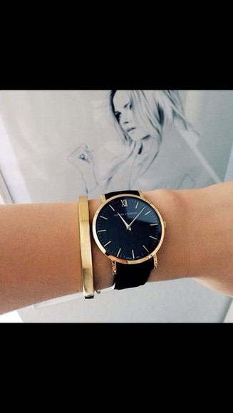 watch bag jewels black jewerlly jewrelly gold leather black leather watch louis vitton