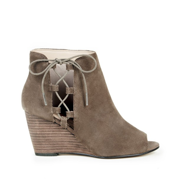 Sole Society Bobbi Lace Up Wedge - Dark Taupe-5