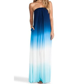 dress blue ombre gradient fashion style trendy stylish cool hot summer rose wholesale-jan