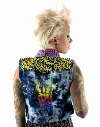 jacket denim jacket jean vest leopard print pink pink spikes spikes cute cute vest cute jacket edgy vest cheetah jackets cheetah vest spike jacket rocker rocker chic scene scene queen punk rock punk punk clothes