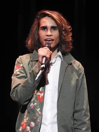 jacket isaiah firebrace eurovision australia x factor khaki floral green army green jacket cotton