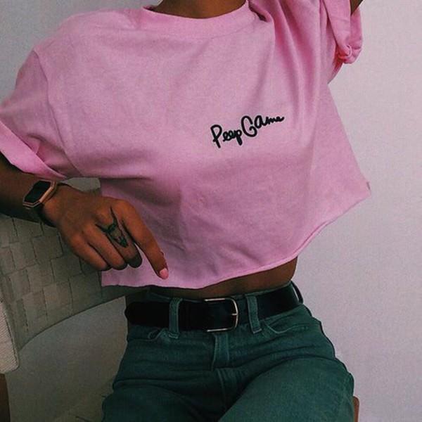 Shirt Pink Shirt Pink Tumblr Shirt Tumblr Outfit - Wheretoget
