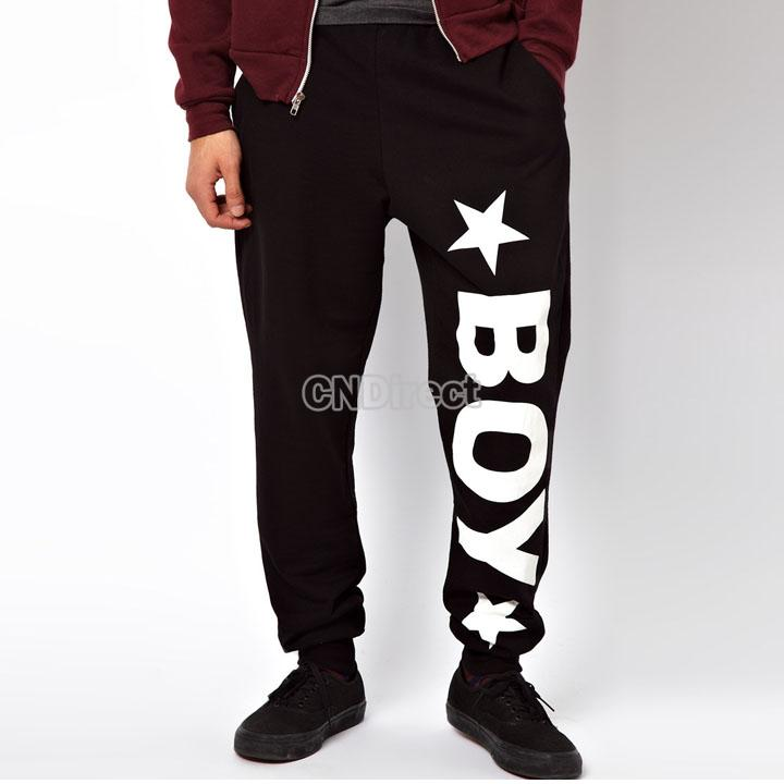 Men's women's fit sports star letter pattern harem pants bag jogging trousers
