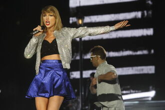 skirt shiny taylor swift metallic skirt