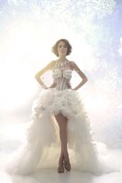 dress,white,gown,wedding,mermaid,high low,crystal,studded,bejeweled,diamonds,vintage,boho,hippie,flowers,floral,amazing,elegant,fairy tale
