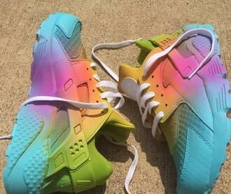 shoes nike colorful huarache customized