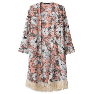 cardigan floral kimono kimono open front cardigan big flower boho chic