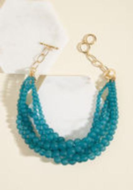 Modcloth matte necklace teal jewels