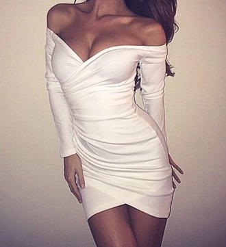 dress bodycon dress long sleeve dress sweetheart neckline