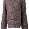 Maison margiela fringed jumper, women's, size: medium, white, cotton/polyamide/viscose/wool