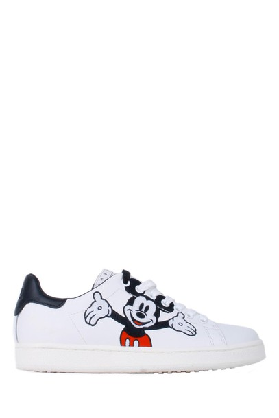 M.O.A. sneakers leather white shoes