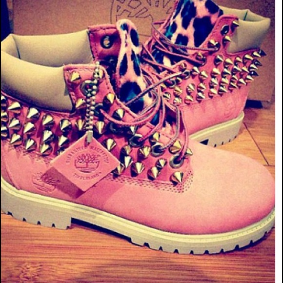 Timberland - Customized spiked leopard Timberlands from Asia's closet on Poshmark