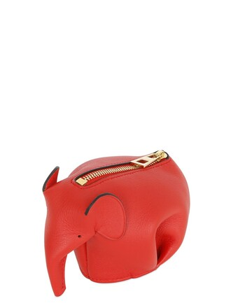 elephant purse leather red bag