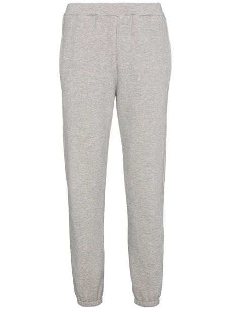 pants track pants women cotton grey