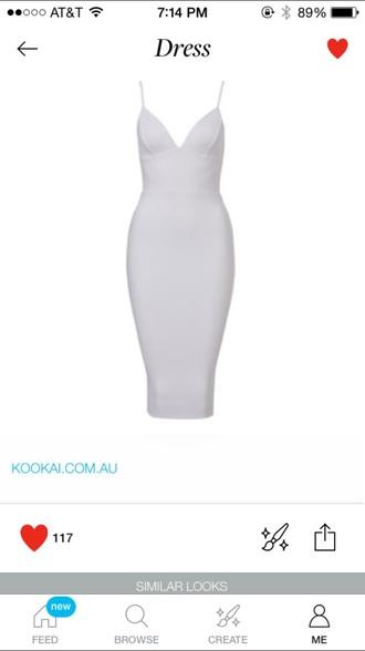dress bodycon dress midi dress white dress