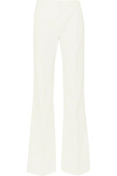 Max Mara pants wide-leg pants white cotton