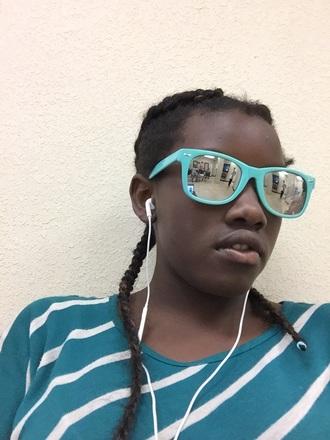 sunglasses light blue soft